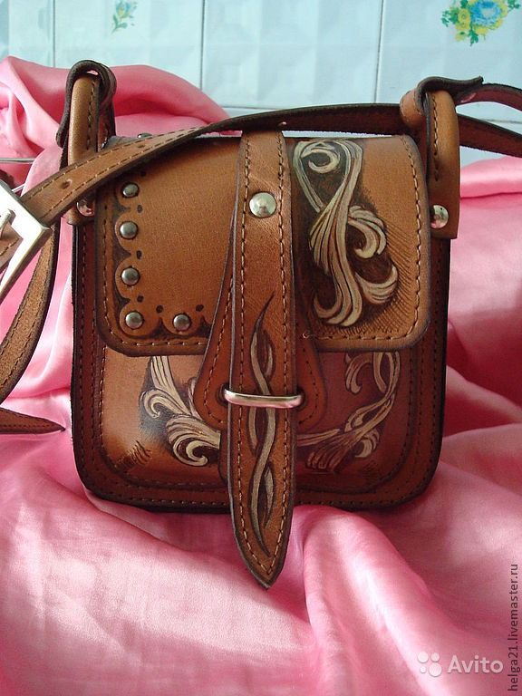 1f83d25d07df Кожаная торба росписная.