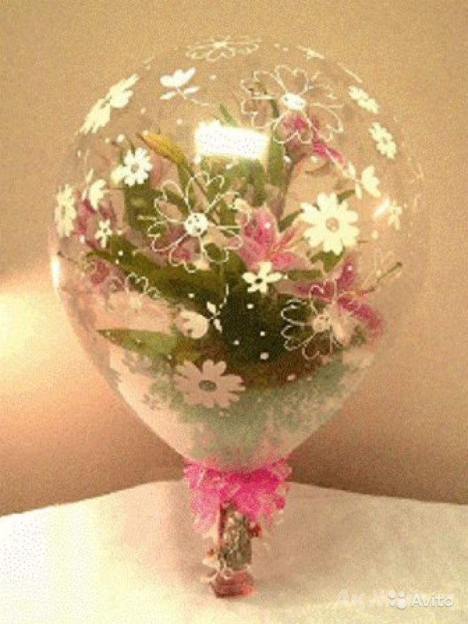 Воздушный шар цветы своими руками