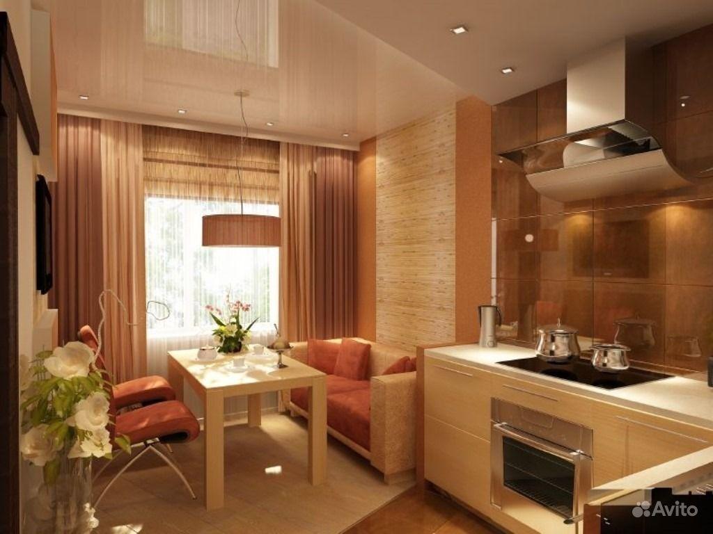 Дизайн кухни 14 метров с диваном