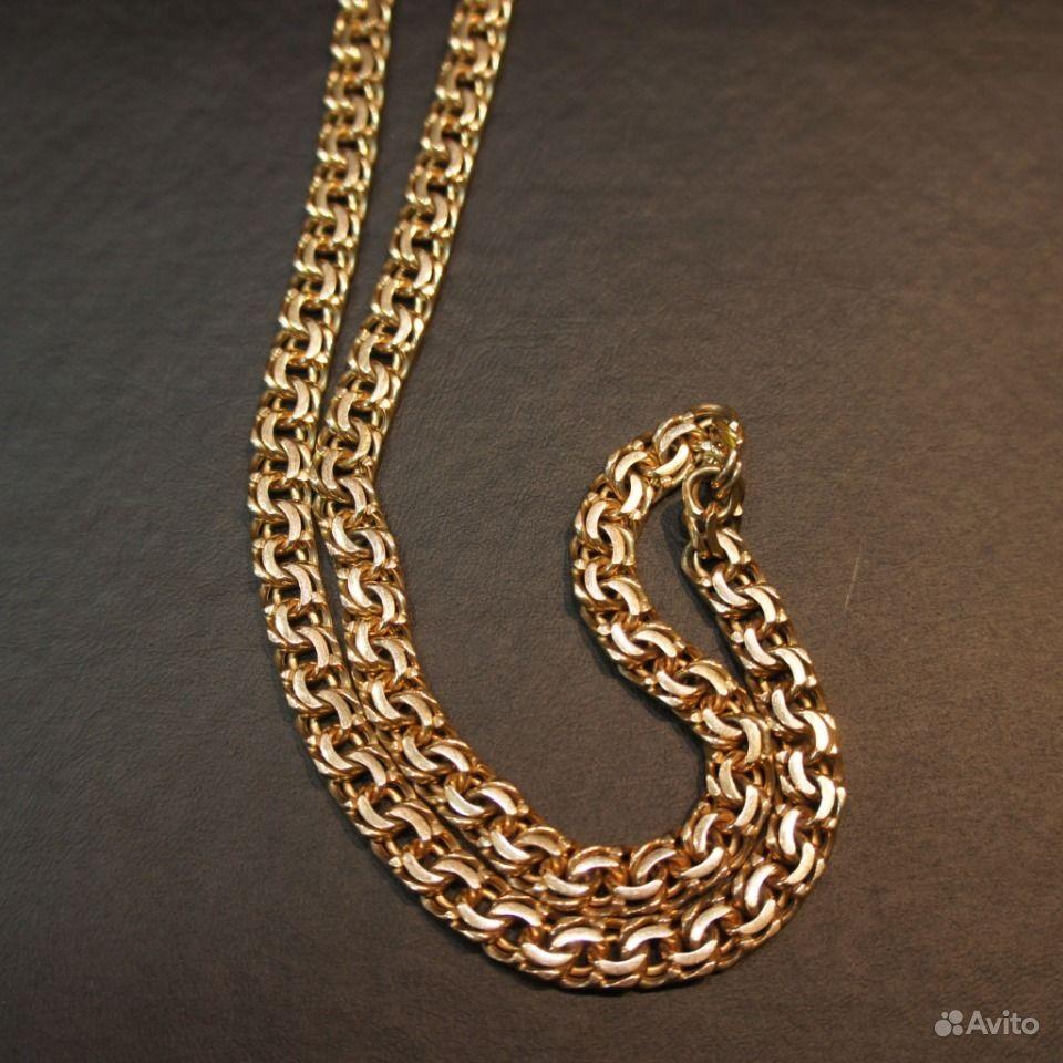Золотые цепочки плетение бисмарк фото 5