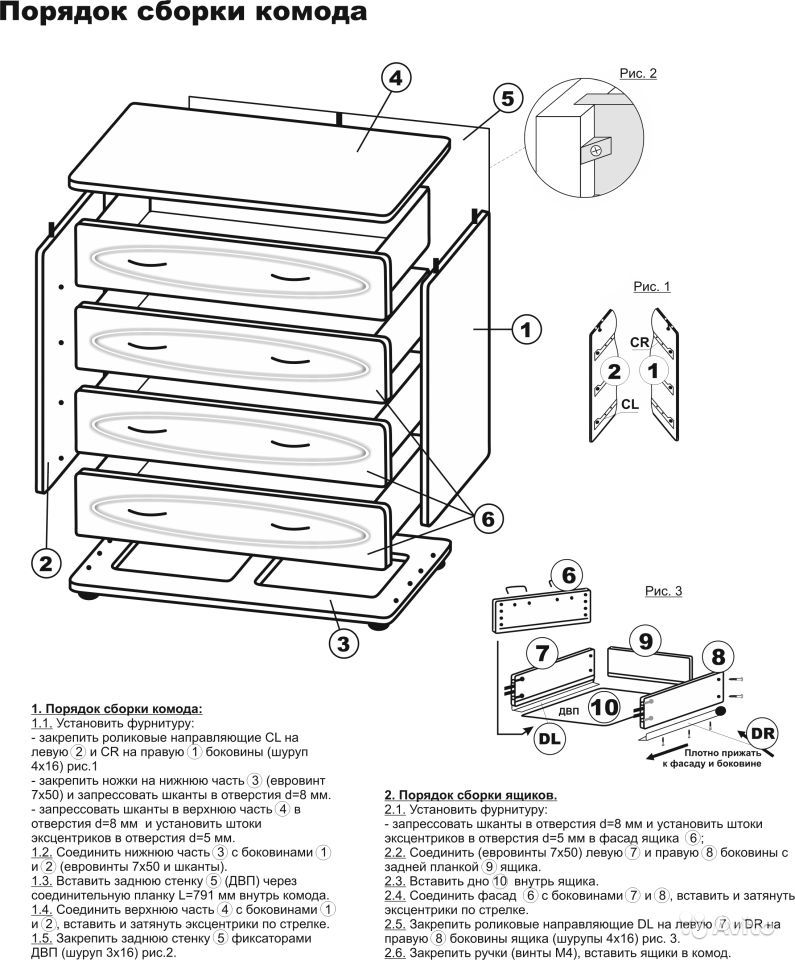 Сборка мебели - комод -