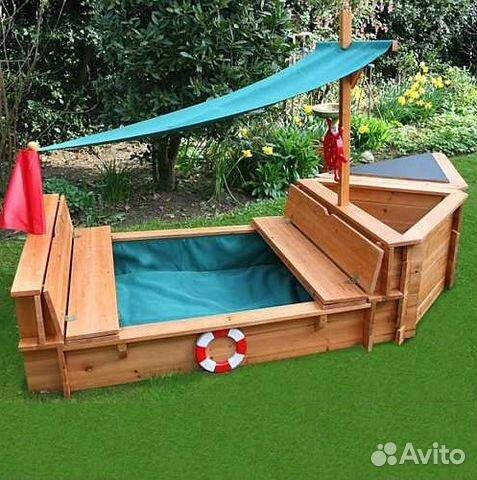 Как сделать песочницу кораблик