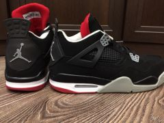 "Новые Nike Air Jordan Retro IV ""Bred"""