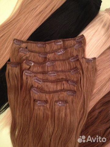 Волосы на заколках remy