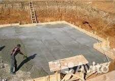 Подливка бетонной смеси под оборудование  Строительные