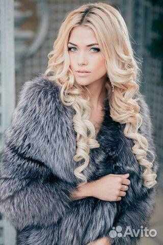 шикарная девушка в чернобурке фото