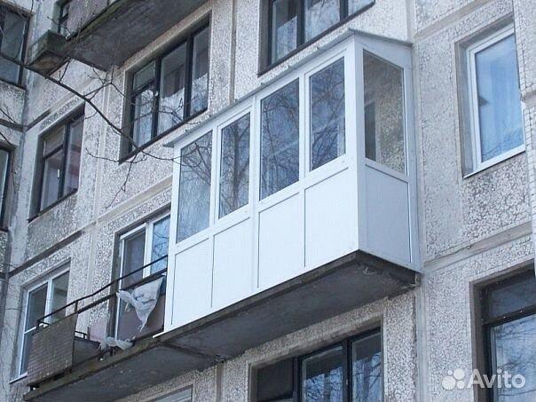 Окна на балкон под ключ без предоплаты 4,18 м купить в москв.