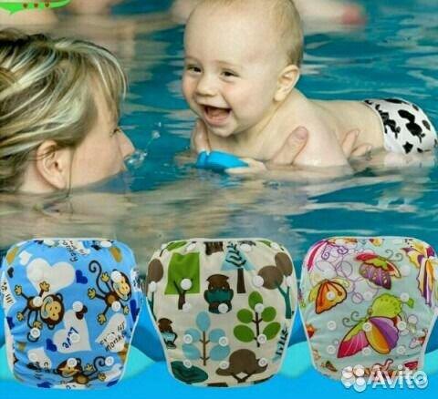 Подгузники для плавания в бассейне многоразовые