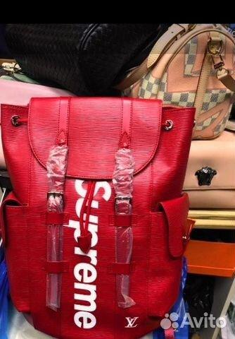 Луи Виттон Лв Louis Vuitton Красный Рюкзак Supreme купить в Москве ... 31576b596e8
