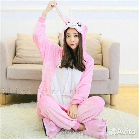 Кигуруми Зайки розовый (костюм c995d9127f485