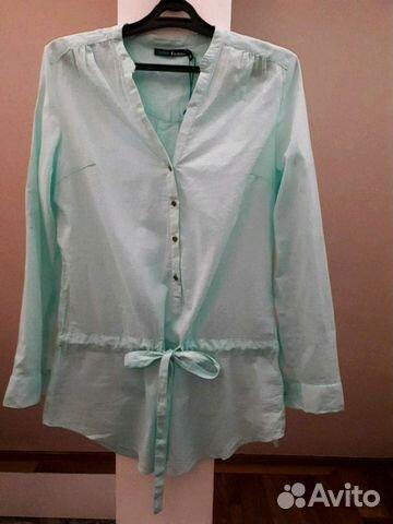 Блуза хлопок новая 46-48 размер 89516237900 купить 1