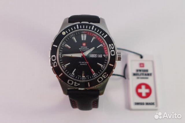 часы наручные мужские швейцарские милитари