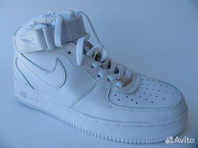 9a88e18a Кроссовки Nike Air Force Кожа Белые Высокие 37 купить в Санкт ...