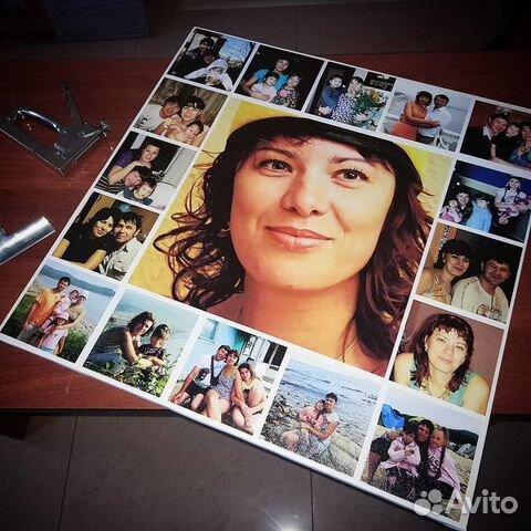 Портрет коллаж по фотографии 100х100 см – заказать на Ярмарке ...   480x480