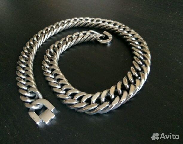 Крупная Мужская стальная цепь б у купить в Ставропольском крае на ... 9bd13f870d7