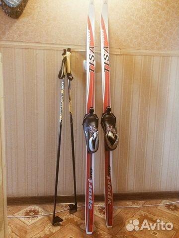 Лыжи детские пластик с ботинками 32р купить в Белгородской области ... 4cd778c5d75