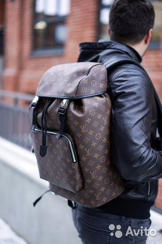 Рюкзак из кожи (канва) Louis Vuitton LV   Festima.Ru - Мониторинг ... 55486a56bd6