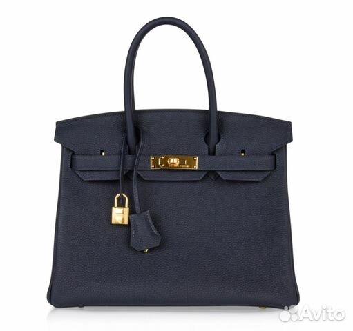 60d587af Cумка Hermes Birkin 30 Bag Blue Togo Ghw купить в Москве на Avito ...