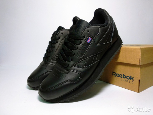 Кроссовки Reebok Classic черные кожаные 36-40 купить в Москве на ... 0deffabac060c