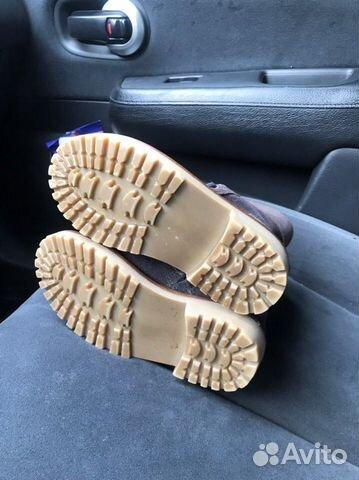 Новые замшевые ботинки С мехом zara 89280678120 купить 3
