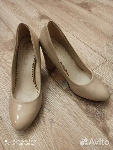 Туфли бежевые лакированные