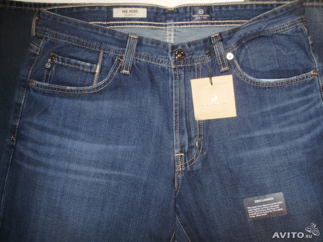 AG Adriano Goldschmied Hero Relaxed Fit Jeans. USA— фотография №1
