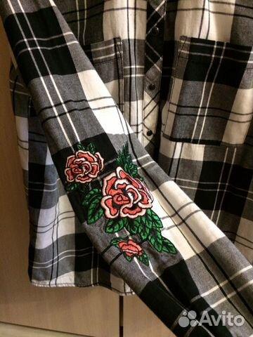 Клетчатая рубашка Cropp 89523916808 купить 4