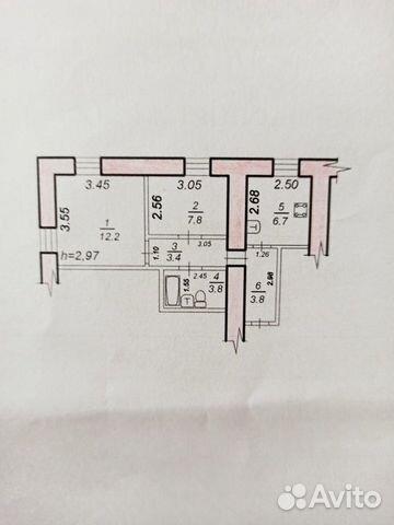 2-к квартира, 38 м², 1/3 эт. 89144289541 купить 1