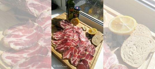 Сыро-вяленная свиная шея, мясо деликатесы купить в Нижегородской области | Товары для дома и дачи | Авито