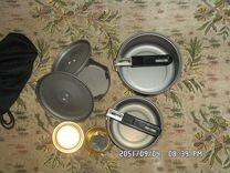 Мини набор посуды с спиртовой горелкой