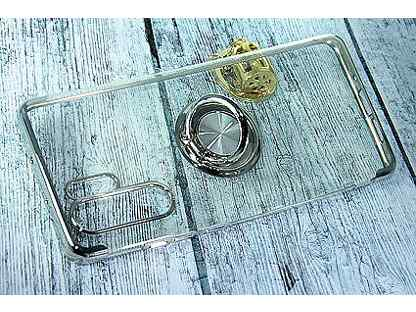 Чехол-накладка для huawei P30 Pro electroplated TPU кольцо серебро