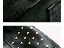 Платье-рубашка на осень из искусственной кожи,ново