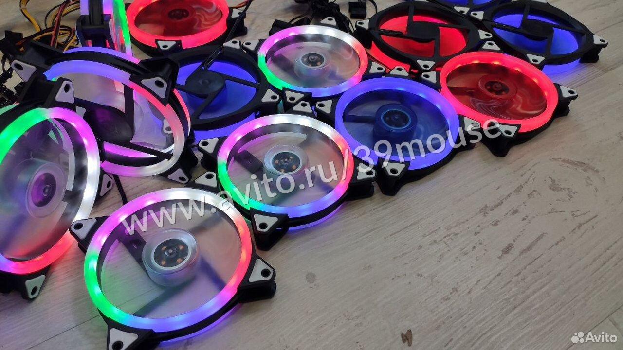Кулер вентилятор с подсветкой RGB новые 120мм  89216108390 купить 1