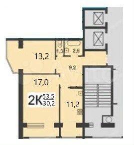 2-к квартира, 53 м², 8/14 эт.  89587497783 купить 1