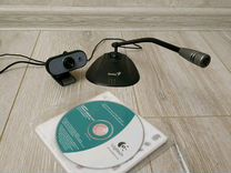 Веб-камера Logitech Webcam C100 вместе с микрофоно