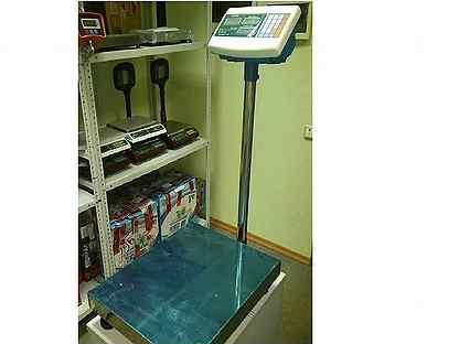 Весы товарные платформенные напольные на 150кг