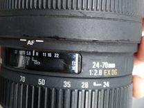 Объектив Sigma 24-70 f 2/8 для canon