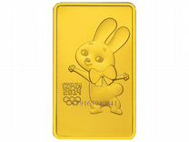 Золотая монета Талисман Сочи Мишка Зайка Леопард