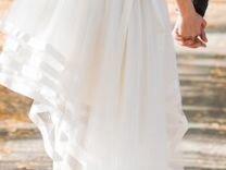Свадебное платье каскад